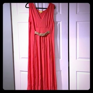 Liz Lange coral maxi dress